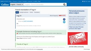 """French Translation of """"log in"""" 