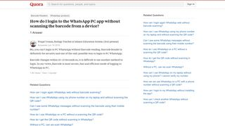 How to login to the WhatsApp PC app without scanning the barcode ...