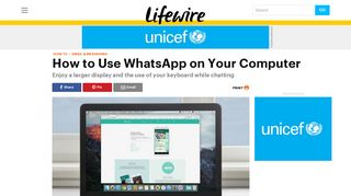 How to Use WhatsApp on Your Computer - Lifewire