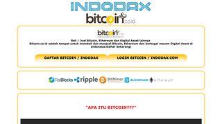 INDODAX | Daftar Login Indodax Jual Beli Bitcoin Mining BTC