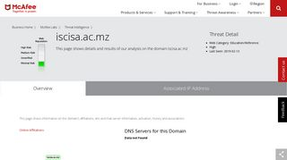 www.edondzo.iscisa.ac.mz - Domain - McAfee Labs Threat Center