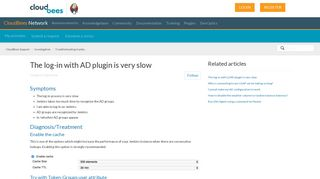 The log-in with AD plugin is very slow – CloudBees Support