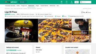 Liga 99 Pizza, Sorocaba - Restaurant Reviews, Phone Number ...
