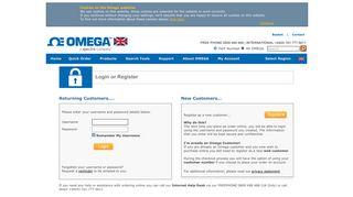 Login or Register - Omega Engineering