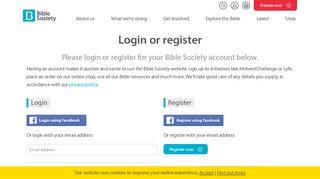 Login or register - Bible Society