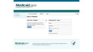 Medicaid - Login or Register