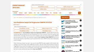 Cara Pendaftaran Sampai Cek Pengumuman SNMPTN 2019/2020 ...