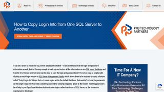 How to Copy Login Info from One SQL Server to Another - PNJ ...