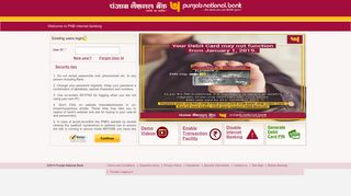 PNB E-Banking:Existing users login