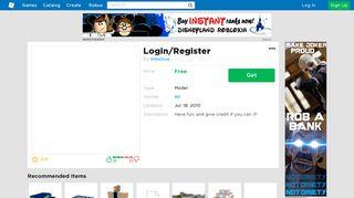 Login/Register - Roblox