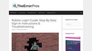 Roblox Login Guide: Step By Step Sign In Instructions ...