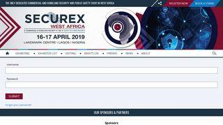 Exhibitor Login | Securex West Africa | Nigeria | 16 – 17 April 2019