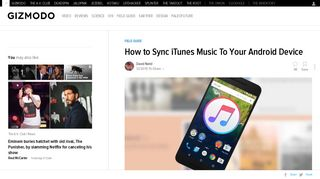 How to Sync iTunes Music To Your Android Device - Gizmodo