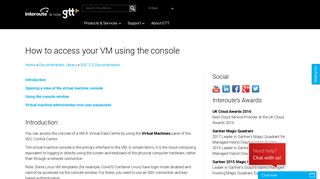 How to access your VM using the console | Interoute CloudStore