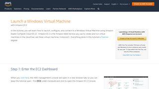 How to Launch a Windows Virtual Machine – AWS