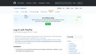 Log In with PayPal · opencart/opencart Wiki · GitHub