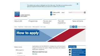 How to apply | London Business School