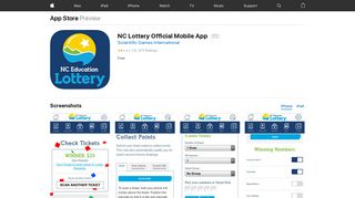 NC Lottery Official Mobile App on the App Store - iTunes - Apple