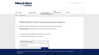 Miles & More - Miles & More credit cards worldwide at a glance