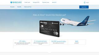 Lufthansa Miles & More World Elite Mastercard | Barclays US