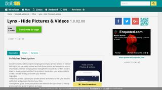 Lynx - Hide Pictures & Videos 1.0.02.00 Free Download
