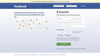 Facebook - Se connecter ou s'inscrire