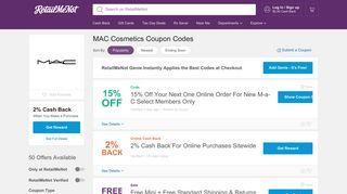 15% Off MAC Cosmetics Coupons - March 2019 - RetailMeNot