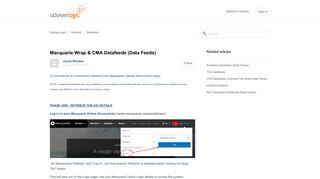 Macquarie Wrap & CMA Datafeeds (Data Feeds) – AdviserLogic