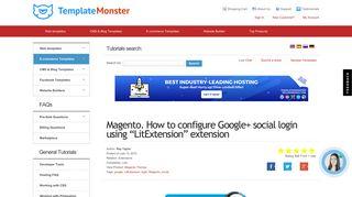 Magento. How to configure Google+ social login using