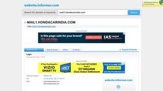 mail1.hondacarindia.com at Website Informer. Login. Visit Mail 1 ...