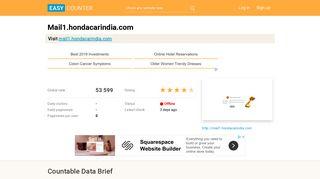 Mail1.hondacarindia.com: Login - EasyCounter.com