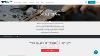 Search | Small Batch | Maker's Row