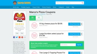 Marco's Pizza Coupons: 50% Off Coupon for 2019 - Coupon Sherpa