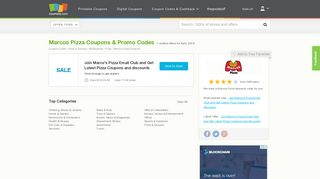 $4 off Marcos Pizza Coupons, Promo Codes February, 2019