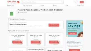 30% Off Marco's Pizza Coupons & Promo Codes Feb. 2019