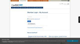 Members - My Account - CareFirst