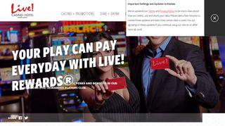 Live! Rewards Program   Live! Casino & Hotel - Maryland Live! Casino