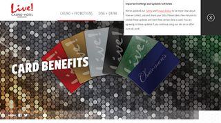 Live! Rewards® Card Benefits   Live! Casino & Hotel - Maryland Live ...