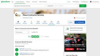 Masco Contractor Services Employee Benefits and Perks   Glassdoor