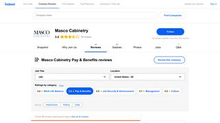 Working at Masco Cabinetry: Employee Reviews about Pay & Benefits ...