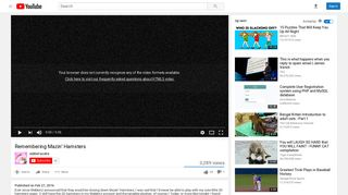 Remembering Mazin' Hamsters - YouTube