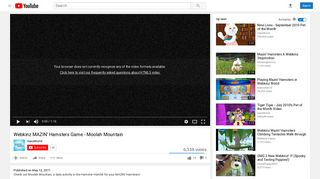 Webkinz MAZIN' Hamsters Game - Moolah Mountain - YouTube