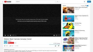 Webkinz: Mazin' Hamsters Gameplay Tutorial - YouTube