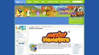 MAZIN' Hamsters - Webkinz Insider Wiki