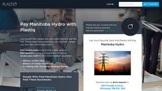 Pay Manitoba Hydro with Plastiq