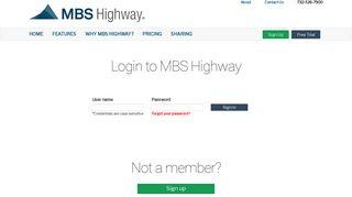 Login - MBS Highway