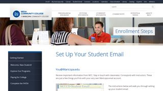 Set Up Your Student Email | Mesa Community College