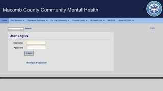 User Log In - Macomb County Community Mental Health