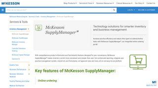 McKesson SupplyManager - McKesson Medical-Surgical