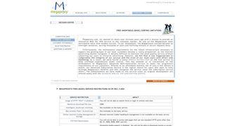 Megaproxy® - List of free (basic) Web VPN service restrictions